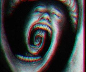 art, scream, and black and white image