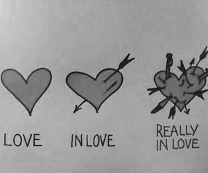 love, heart, and in love image