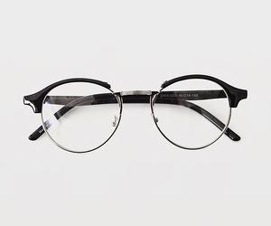glasses, white, and black image