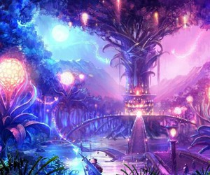 fantasy, light, and purple image