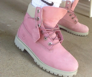 nike, pink, and timberland image