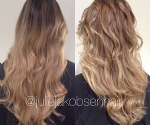 blonde, brunette, and curls image
