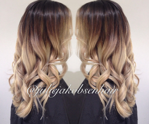 blonde, oribe, and brunette image