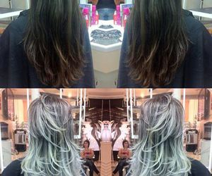 before and after, platinum, and blonde image