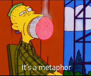 funny, metaphor, and simpsons image