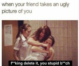 funny, friends, and ugly image