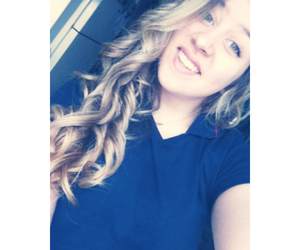 blond, curly hair, and girl image