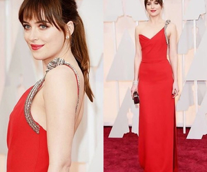 dakota johnson, oscar, and oscar 2015 image