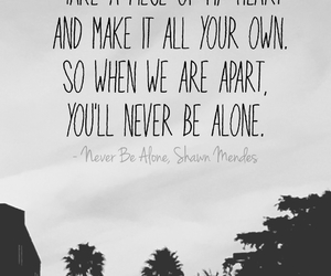 shawn mendes, music, and never be alone image