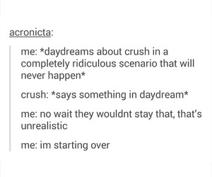 crushes, daydreaming, and funny image