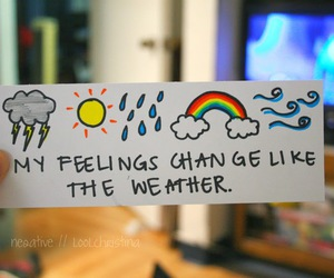 feelings, weather, and quote image