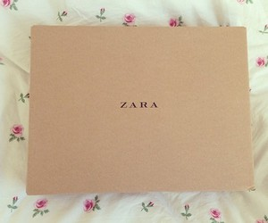 Zara, box, and flowers image