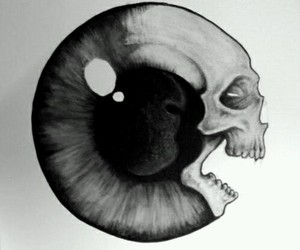 black, drawing, and eye image