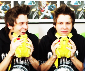pikachu, rubius, and smile image