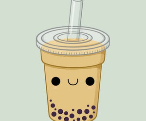 cute, bubble tea, and kawaii image