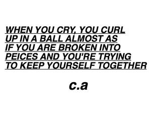 crying, grunge, and poem image