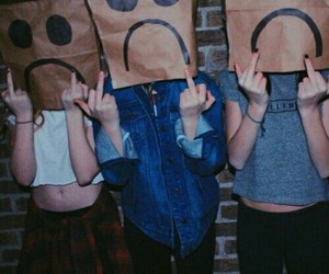 grunge, paper bags, and hipster image