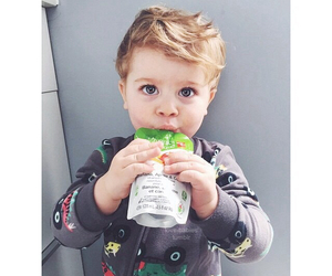 baby, beautiful, and juice image