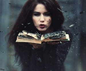 book, fire, and magic image