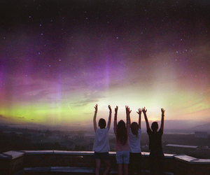 friends, sky, and friendship image