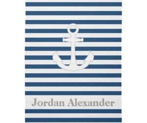 anchors, baby boy, and monogram image