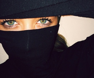 eyes, green, and black image