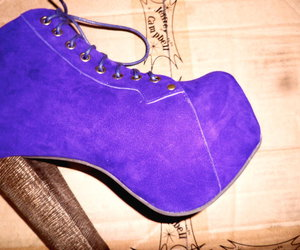 purple, shoes, and jeffrey campbell image