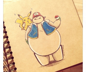 baymax, disney, and pokemon image