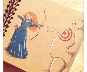 disney, baymax, and merida image