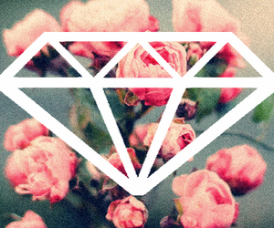 diamond, floral, and flowers image