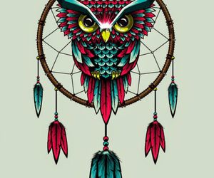 owl, Dream, and dreamcatcher image