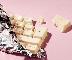 chocolate, keyboard, and food image