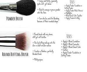 makeup and makeup brushes image