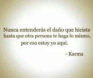 karma, frases, and pain image