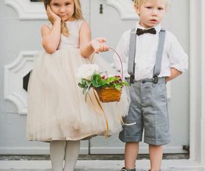 child, boy, and girl image