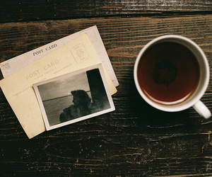tea, memories, and postcard image