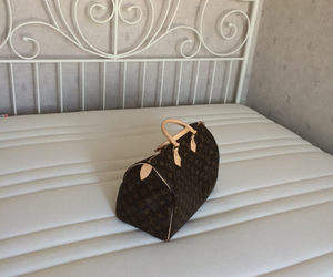 bed, Louis Vuitton, and speedy image