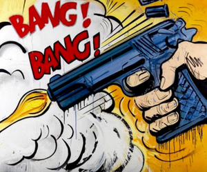 gun and pop art image