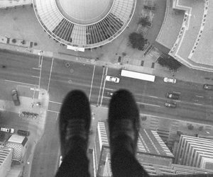black and white and suicide image