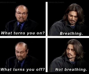 johnny depp, funny, and breathing image