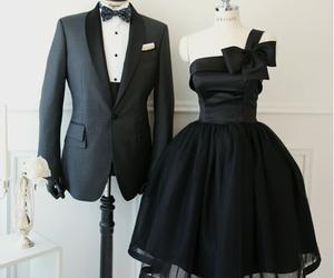 dress, black, and couple image
