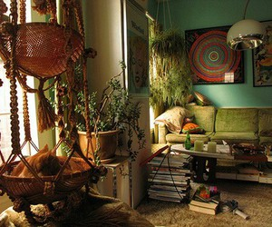 hippie, room, and boho image