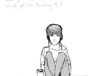 drawing and girl image