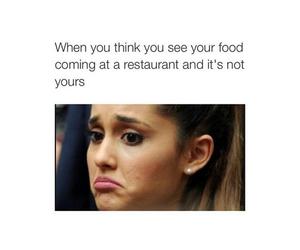 food, restaurant, and sad image