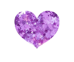 heart, purple, and sparkle image