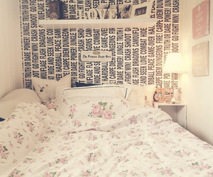 bed and flowers image