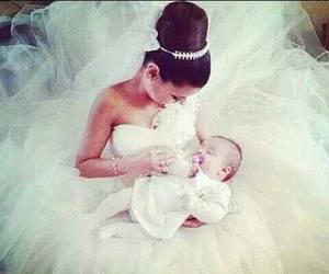 wedding, baby, and bride image