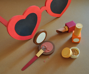 heart, make up, and Paper image