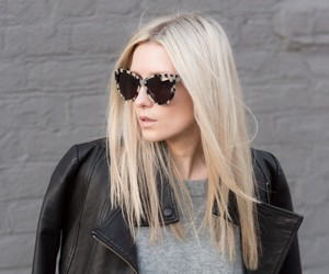 black, celine, and leather jacket image