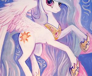 celestia, MLP, and my little pony image